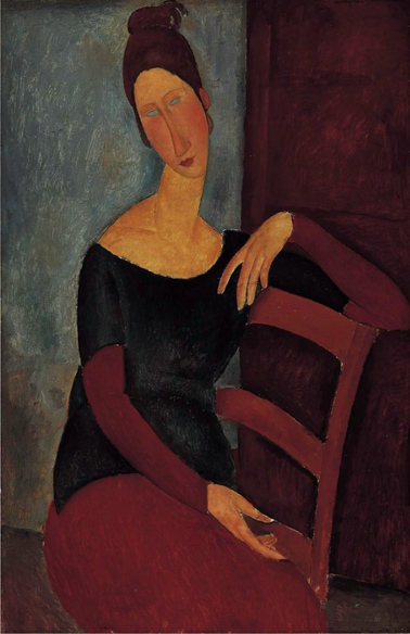 Amedeo Modigliani - Portrait-of-the-Artist's-Wife