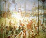 Alphonse Mucha - The Coronation of the Serbian Tsar as East Roman Emperor