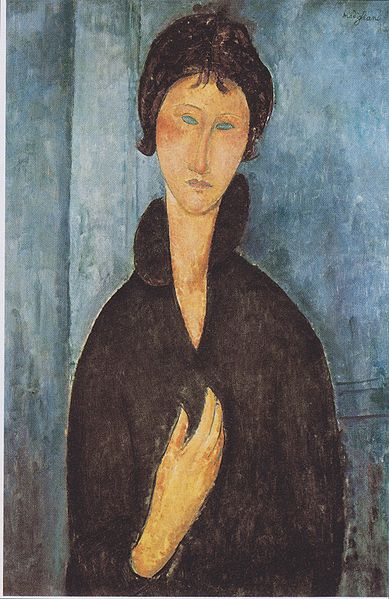 Amedeo Modigliani - The woman with blue eyes