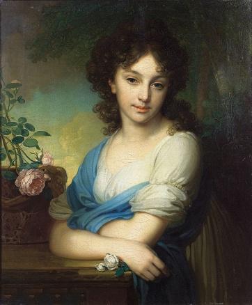 Vladimir Borovikovsky - Portrait of Elena Alexandrovna Naryshkina