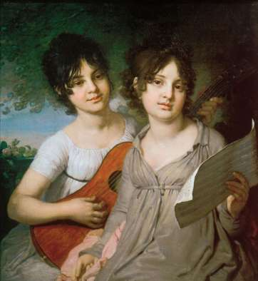 Vladimir Borovikovsky - Portrait of the Sisters Princess Anna Gavriilovna Gagarina and Princess Varvara Gavriilovna Gagarina