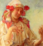 Alphonse Mucha - Young Girl In A Moravian Costume