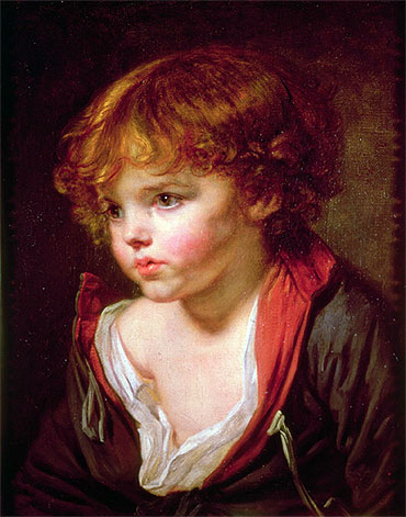 Jean-Baptiste Greuze - A Blond Haired Boy with an Open Shirt