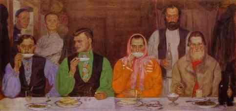 Andrei Ryabushkin - Drinking Tea