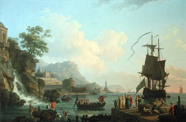 Claude-Joseph Vernet - Marine and landscape on the shores of the Mediterranean