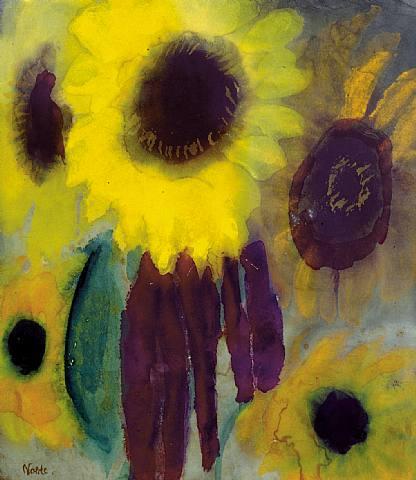 Emil Nolde – Sunflowers