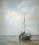 Jacob Maris - Fishing boat on the beach at Scheveningen