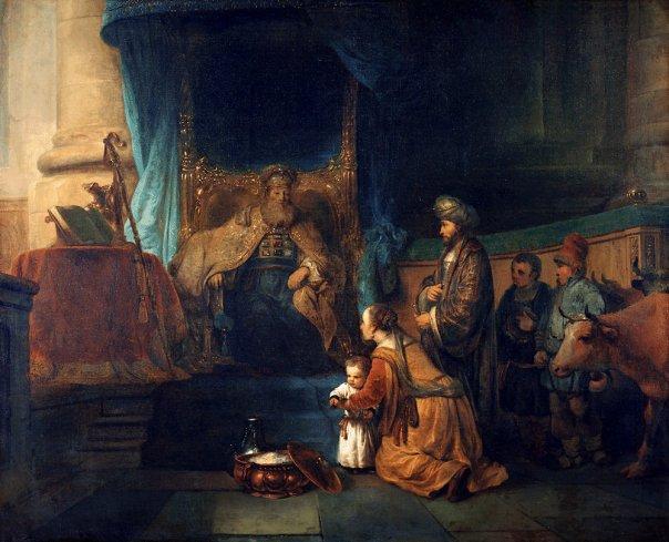 Gerbrand van den Eeckhout. Anna presenting her son Samuel to the priest Eli