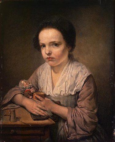 Jean-Baptiste Greuze - Girl with a Doll
