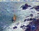 Henri Martin - Boat near Cliffs