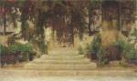 Henri Martin-Doorway into the House