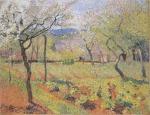 Henri Martin-Flowering garden in Spring