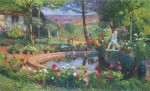 Henri Martin-Fountain in the Park Marquayrol