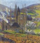 Henri Martin-Labastide in Spring behind the Presbytere