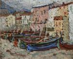 Henri Martin-Le Barques sur le greve a Collioure