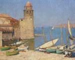 Henri Martin-Ships at Port Collioure