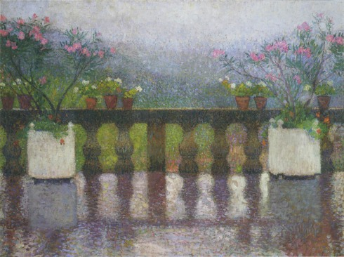 Henri Martin-Terrace in the Rain in Marquayrol