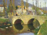 Henri Martin-The Bridge at Labastide du Vert