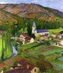 Henri Martin-The Church at Labastide