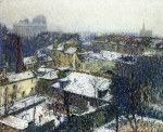 Henri Martin - The Roofs of Paris in the Snow, the View from the Artist's Studio