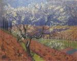 Henri Martin-Trees in flower