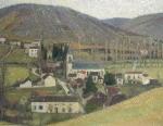 Henri Martin-View of Labastide in Gray Weather