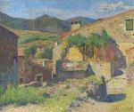 Henri Martin-Village dans le Lot rue ensoleille