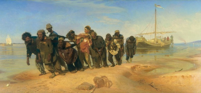 Ilya Repin - Barge Haulers on the Volga
