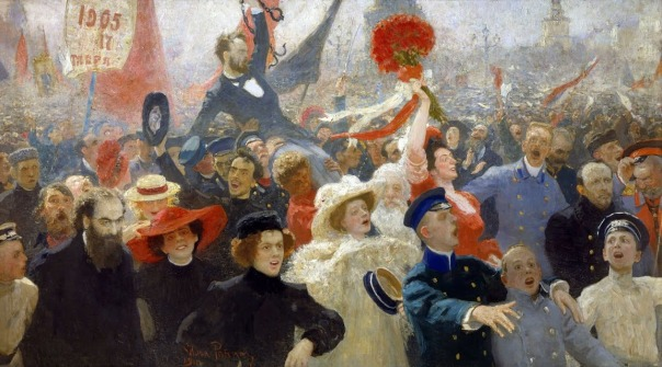 Ilya Repin - Demonstration on October 17, 1905