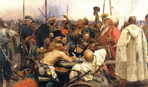 Ilya Repin - Reply of the Zaporozhian Cossacks to Sultan Mehmed IV of Turkey
