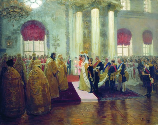 Ilya Repin - Wedding of Nicholas II and Grand Duchess Alexandra Feodorovna