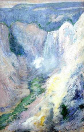 John Henry Twachman - Waterfall in Yellowstone