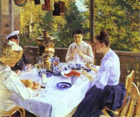 Konstantin Korovin - At the Tea Table