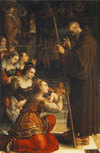 Lavinia Fontana - St Francis of Paola Blessing the Son of Louisa of Savoy