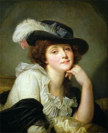 Jean-Baptiste Greuze - Portrait of Sophie Arnould