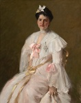 William Merritt Chase - Mrs. Chase in Pink