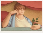 George Tooker - Woman with Branch
