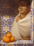 George Tooker - Woman with Oranges