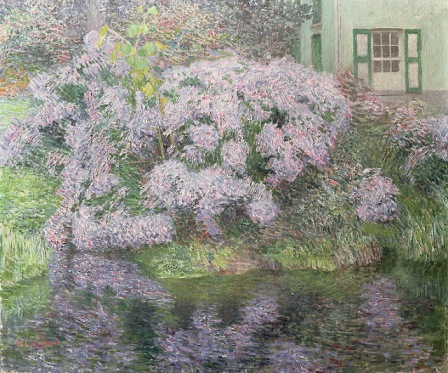 Emil Claus - Hydrangeas on the banks of the River Lys 1898