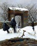 Caspar David Friedrich - Graveyard under Snow