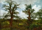 Caspar David Friedrich - Landscape with Oak Trees and a Hunter
