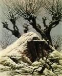Caspar David Friedrich - Snow-covered hut