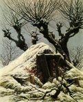 Caspar David Friedrich - Snowy cottage (Cottage in the snow)
