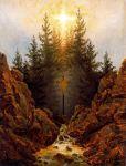 Caspar David Friedrich - The Cross in the Forest