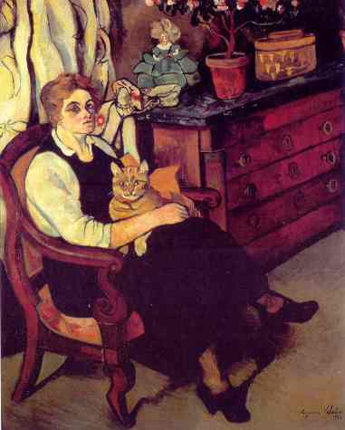 Suzanne Valadon - Portrait de Miss Lily Walton avec Raminou