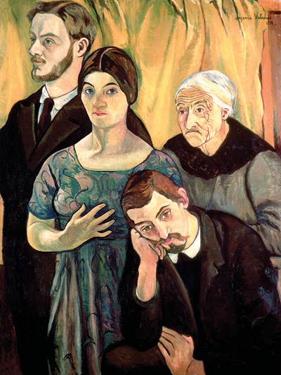 Suzanne Valadon - SELF PORTRAIT, WITH HER FAMILY