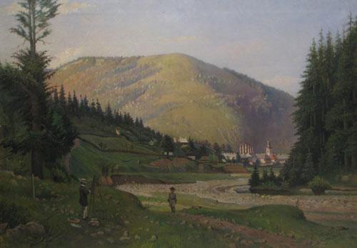 Emanoil Panaiteanu Bardasare - Peisaj Manastirea Agapia