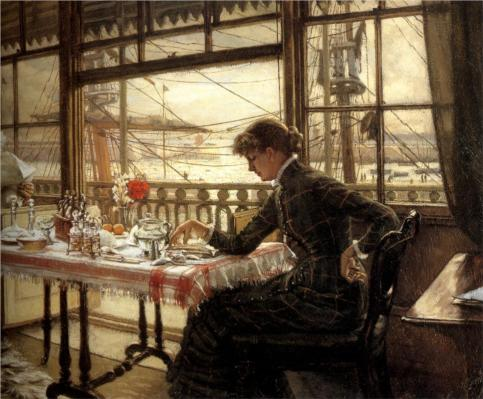 James Tissot - Room Overlooking the Harbour