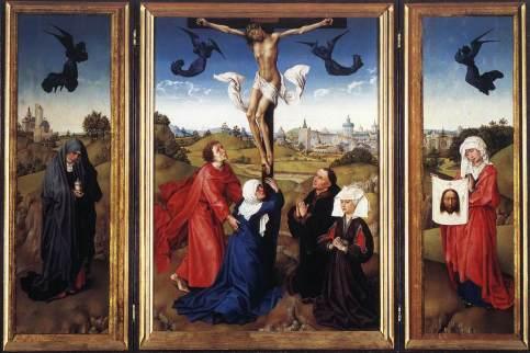 Rogier van der Weyden - Crucifixion Triptych