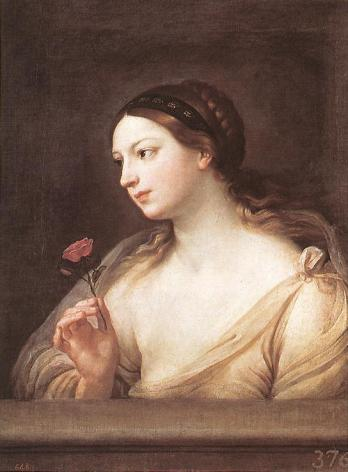 Guido Reni - Girl with a Rose